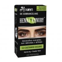 Knnury Henna P/ Sobrancelhas 3.0 Castanho Escuro 4g -