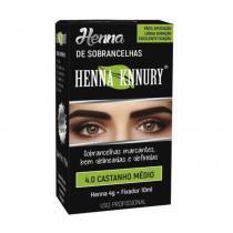 Knnury Henna P/ Sobrancelhas 4.0 Castanho Médio 4g -