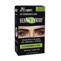 Knnury Henna P/ Sobrancelhas 5.0 Castanho Claro 4g -
