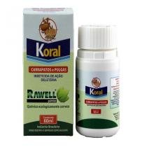 Koral 60ml Combate Carrapatos e Pulgas do Ambiente - Rawell -