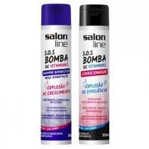 Kt S.O.S Bomba Salon Line Shampoo Bombástico e Condicionador 300ml - Salon Line Professional