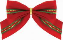 Laço Natal Galão Verde e Vermelho 6 cm com 6 - Yangzi