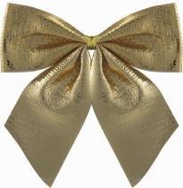 Laço Natal Lame Dourado 7,5 x 7,5 cm com 6 - Yangzi