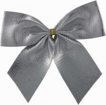 Laço natal lame prata 7,5 x 7,5 cm com 6 - Yangzi
