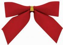 Laço Natal Veludo Vermelho 5 x 5 cm com 12 - Yangzi