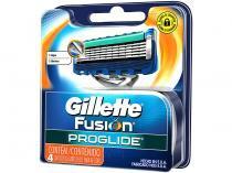 Lâmina de Barbear Gillette Fusion Proglide Recarga - 4 Unidades