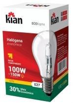 Lâmpada Bulbo Halógena 100 W = 150 W x 127 V Kian com 10 - Comprenet