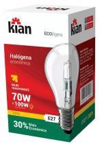 Lâmpada Bulbo Halógena 70 W = 100 W x 127 V Kian com 10 - Comprenet