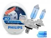 Lâmpada Crystal Vision Ultra H7 Super Branca Philips 4300K + Pingo -