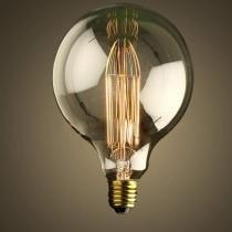 Lâmpada de filamento de carbono - g95 40w 110-130v - Transparente - Starlux