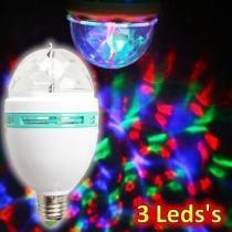 Lâmpada giratória led strobo colorido 3w bivolt ly-399/sk-299a rgb - Wmt