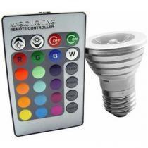 Lâmpada led RGB 3W c/ controle - KANKAI