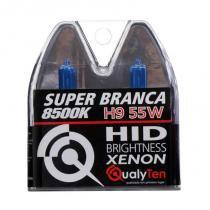 Lâmpada qualyten super branca efeito xenon h9 8500k 55w - Qualyten