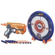 Lançador nerf firestrike elite com alvo azul hasbro a9541 11903 - Hasbro