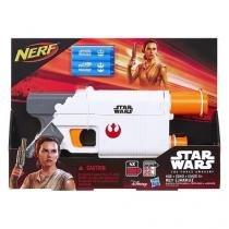 Lançador nerf rey solo star wars the force awakens branco hasbro b3970/4145 11645 - Hasbro