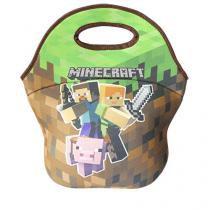 Lancheira Mini Minecraft - Marrom - Único - Gorila Clube