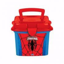 Lancheira Sanduicheira Mini Box Plástico C/alça 1l Spiderman - Plasútil