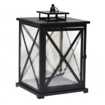 Lanterna Decorativa - 45cm - Preta - Evolux