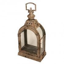 Lanterna Decorativa de Metal Envelhecido e Vidro Autel - Maria Pia Casa