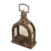 Lanterna Decorativa de Metal Envelhecido e Vidro Chantry - Maria Pia Casa