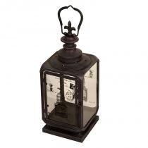 Lanterna Decorativa de Metal Envelhecido e Vidro Jiangxi - Maria Pia Casa
