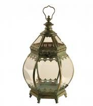 Lanterna Decorativa de Metal Envelhecido Smara Grande - Maria Pia Casa