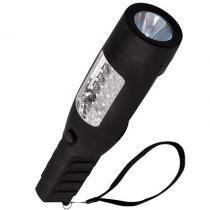 Lanterna led sinalizador de emergência recarregável para camping, praia e pesca alcance 70m mor -