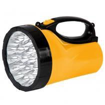 Lanterna Recarregável com 23 LEDS Bivolt Preto/Amarelo 7322 - Brasfort - Brasfort