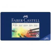 Lápis art grip mina permanente faber-castell  - estojo metálico com 36 cores - ref 114336 - Faber castell