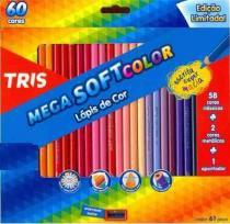 Lapis Cor Tris Mega Soft Color 60 Cores + Apontador -