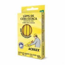 Lápis De Cera Estaca Amarelo Limão Acrilex -