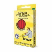 Lápis De Cera Estaca Vermelho 021 Acrilex -