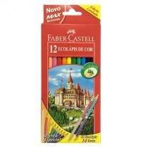 Lápis de cor 12 cores - 120112+2 - Faber-Castell -