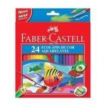 Lápis de Cor 24 Cores Aquarelável Faber-Castell. -