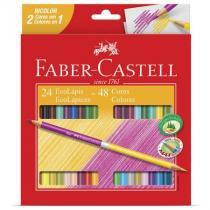 Lápis de cor 24 cores - bicolor - 120624 - Faber-Castell -