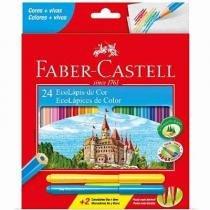 Lápis De Cor 24 Cores - Sextavado Faber Castell -