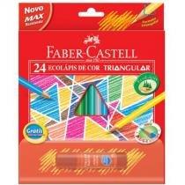 Lápis de cor 24 cores - triangular - 120524 - Faber-Castell -