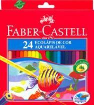 Lápis De Cor 24 Longo Aquarelável 120220 Faber - 1