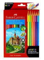 Lápis de Cor Ecolápis 12 Unidades E 6 Ecolápis Neon - Faber Castell -
