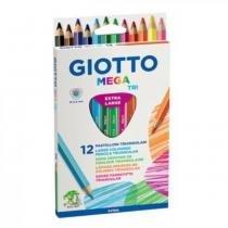 Lápis de Cor Grosso Triangular 12 Cores Mega Tri Giotto - Giotto