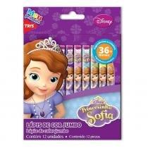 Lápis de Cor Princesinha Sofia Disney Tris Jumbo com 12 Cores Tris