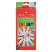 Lápis de Cor Triangular Faber Castell - Super Ponta - 12 cores -