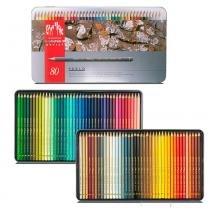 Lápis mina permanente pablo caran dache estojo lata com 80 cores - 30666.380 - Carandache