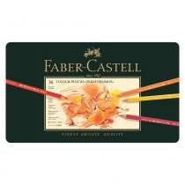 Lápis Polychromos Mina Permanente Faber-Castell  - Estojo Metálico com 36 cores - Ref 110036 - Faber castell