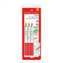 Lápis preto jumbo - SM/1205J - com 3 unidades - Faber-Castell -