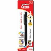 Lapiseira 0,5mm Twist-Erase Preta Sm/Qe205-A Pentel Blister - 1