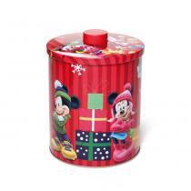 Lata C/ Tampa Turma Do Mickey Decoração Natal Vermelha - Cromus