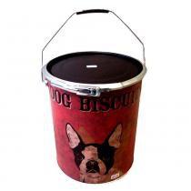 Lata Decorativa Porta Objetos Dog Biscuits - Versare Anos Dourados