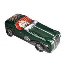 Lata organizadora de metal 29,5 x 10,7 x 8,7 cm carro verde - Silver crane