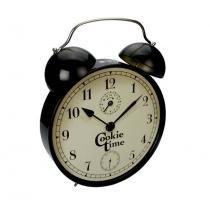Lata organizadora de metal relógio 25 x 27 cm - Silver crane